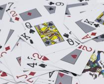 cartes de poker en vrac